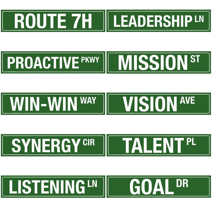 Leadership Hallway Signs — Variety Pack - The Leader in Me Store