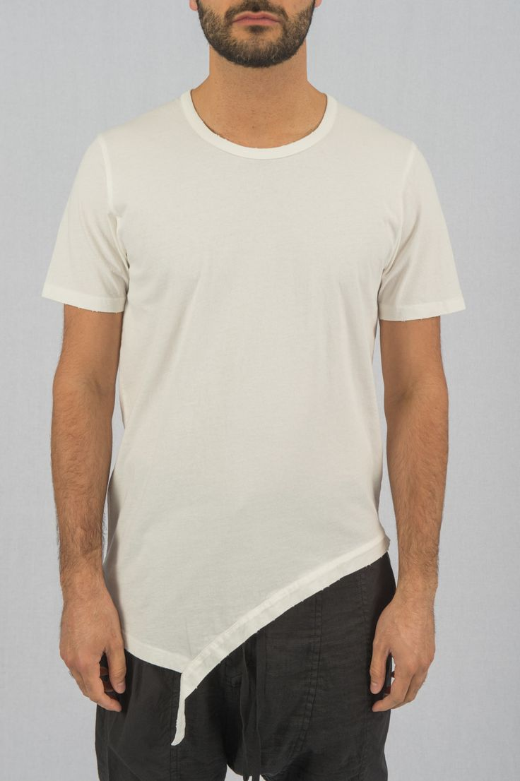 White Side Cut T-Shirt