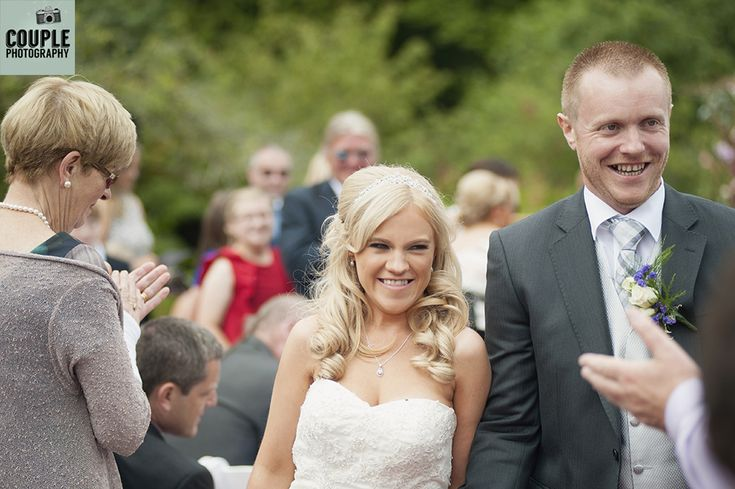 The happy newlyweds. Weddings at Rathsallagh House Hotel by Couple Photography.