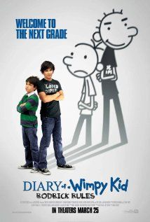 Diary of a Wimpy Kid: Rodrick Rules.  PG, 2011. Back in middle school after summer vacation, Greg Heffley and his older brother Rodrick must deal with their parents' misguided attempts to have them bond.
