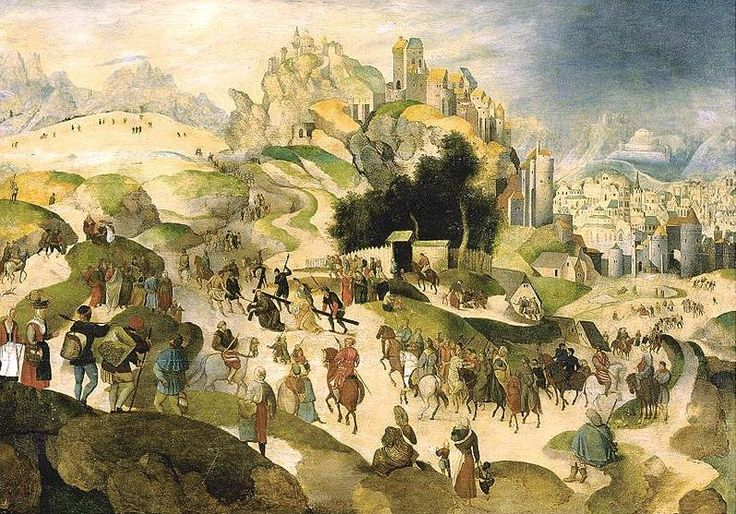 Abel Grimmer (c.1570–c.1620) - The Road to Calvary (1599).