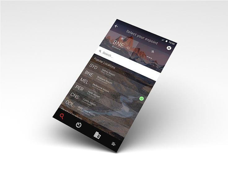 Flight App Search Expoint Screen by Jamie Zeidler