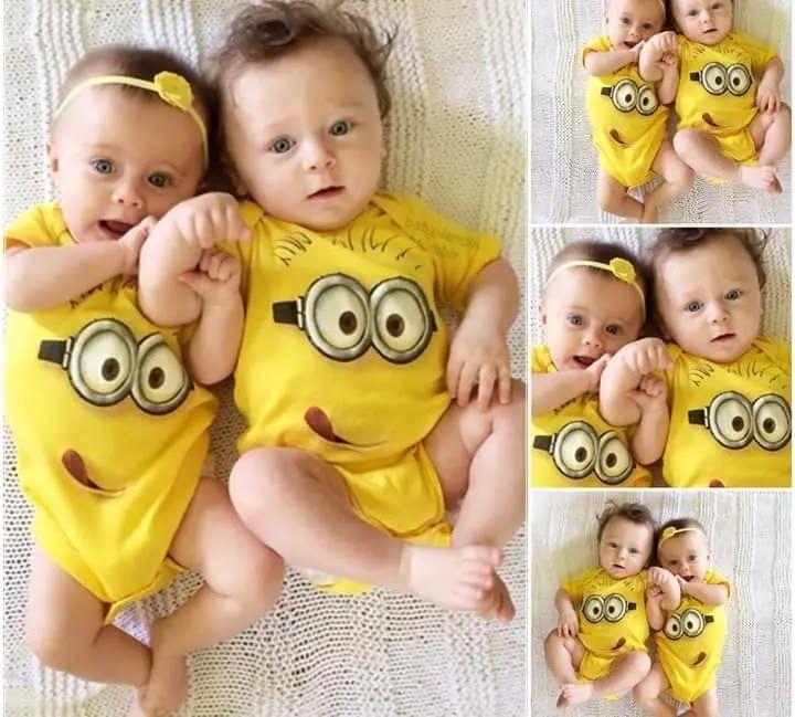 اجمل اطفال العالم بنات واولاد توام Minion Baby Baby Baby Face
