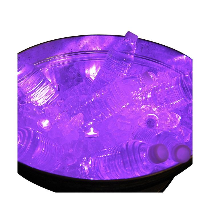 12ct Submersible Battery Operated LED Lights PurpleEnchant your guests with these battery operated submersible LED lights. Just place a submersible light in a vase, bowl, fountain, ice bucket or any water feature to create ambient mood lighting for your next party or event. They can easily be turned on/off with a simple twist of the light. These versatile lights can be used in or out of the water.