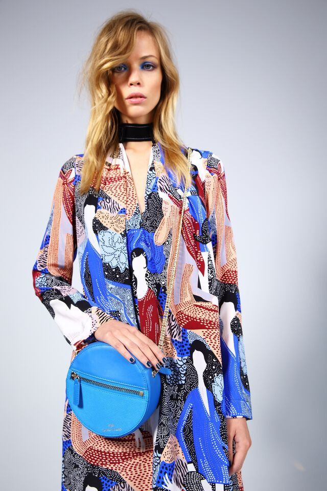 Hannah Round Blue Bag - Benah for Karen Walker