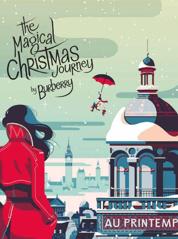 Natal em Paris - Burberry na Printemps http://www.vermaisdesign.com.br/programa-imperdivel-para-o-natal-em-paris/decor/