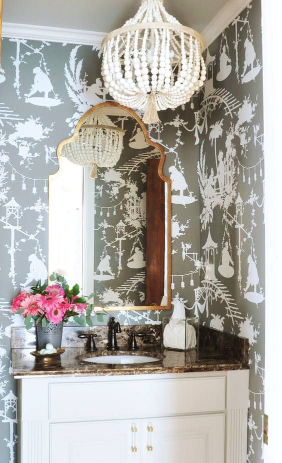 Hanging Out in Style: 10 Bathrooms with Chandeliers that ...