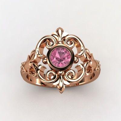 Pink Tourmaline Rose Gold Ring