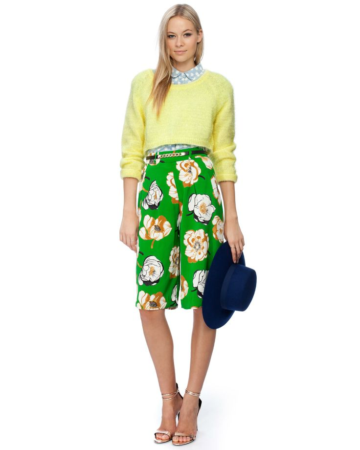 Casey Floral Culottes by River Island | THE ICONIC