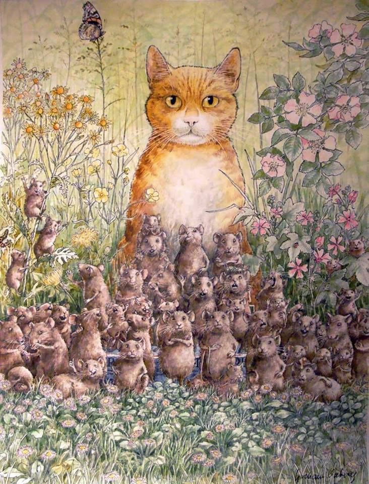 Pin By Zapkitten On Comic And Illustrations Cat Art Cats Illustration Illustration Art