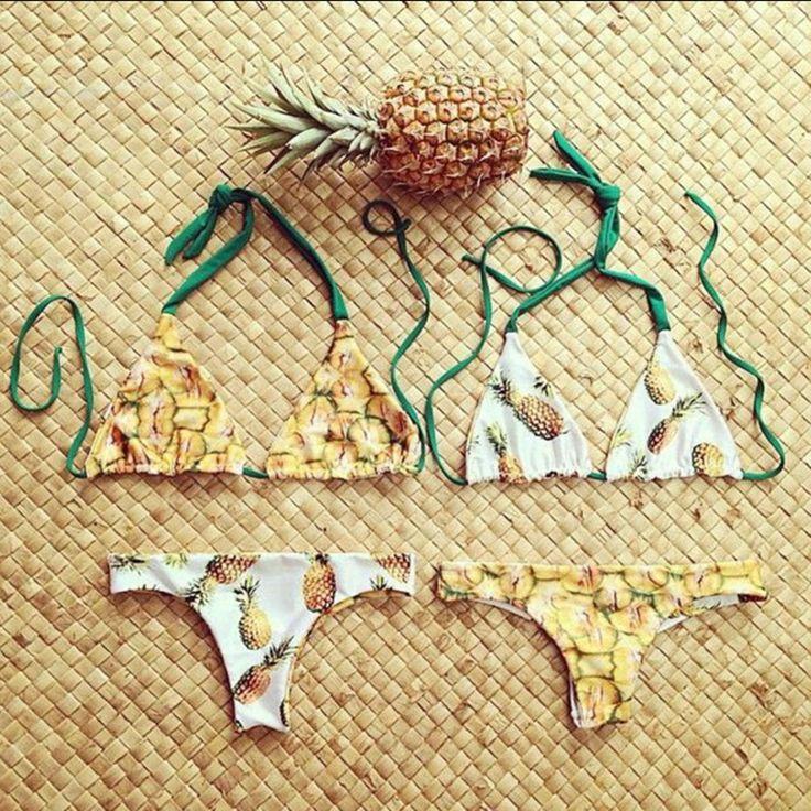 Pas cher Réversible Maillots De Bain Biquinis D'été Brésilien Bikinis Rembourré Maillot de Bain Sexy Beachwear trajes de bano Bas et Haut Trikini, Acheter  Bikinis Ensemble de qualité directement des fournisseurs de Chine:   Brazilian Bikini 2016 Sexy Wom