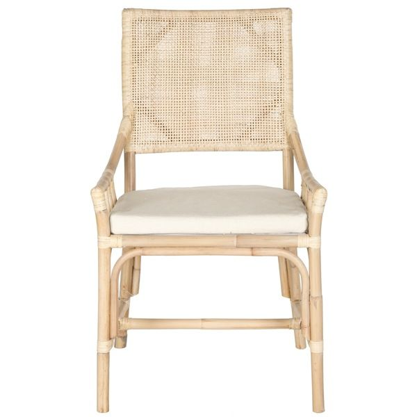 Perfect Safavieh Donatella Natural White Wash Chair   Overstock Shopping   Great  Deals On Safavieh Living Room Chairs. Rattan Armchair ...