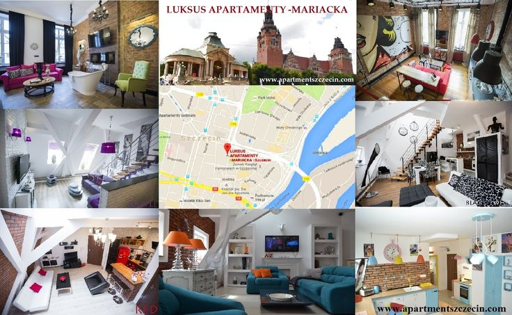 LUKSUS APARTAMENTY -MARIACKA  www.apartmentszczecin.com  Modern, newly furnished and fully equipped in a very high standard in the best location of Szczecin in the center of the old town, nevertheless in a very quiet street near the castle of the dukes of Pomerania, new Stettiner Philharmonic, King's Gate, Paul church, national museum, Loitzenhaus, port gate, tower of the Seven coats and the shafts chrobry. Close to restaurants, bars, nightclubs, theaters, museums,
