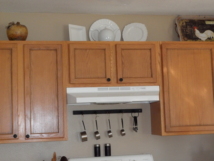 We did a pinstripe stain on our kitchen cupboard doors. We also ...