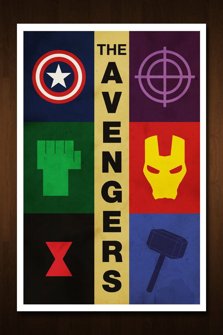 The Avengers Art Print - Poster Inspired by Comic Book and Film 'The Avengers' - 11x17. $13.99, via Etsy.
