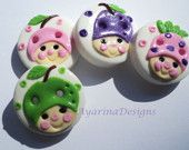 Gumnut baby buttons - could use as template for cookies