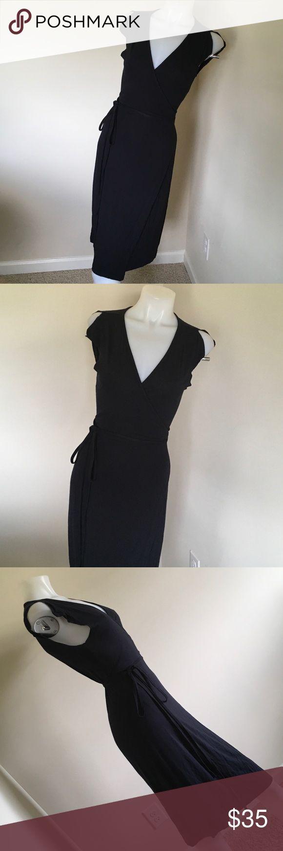 Black J.Crew wrap dress (2500) this dress is very cute thin material please check tags J. Crew Dresses Midi