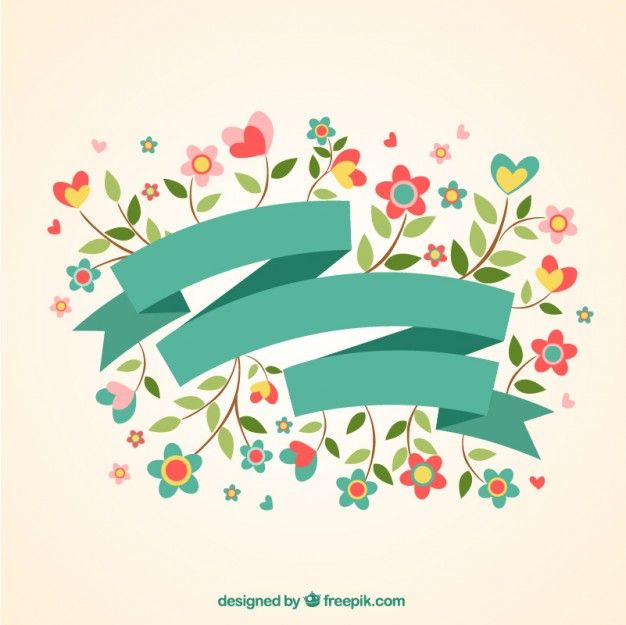 Bandera Hermosa primavera Vector Gratis