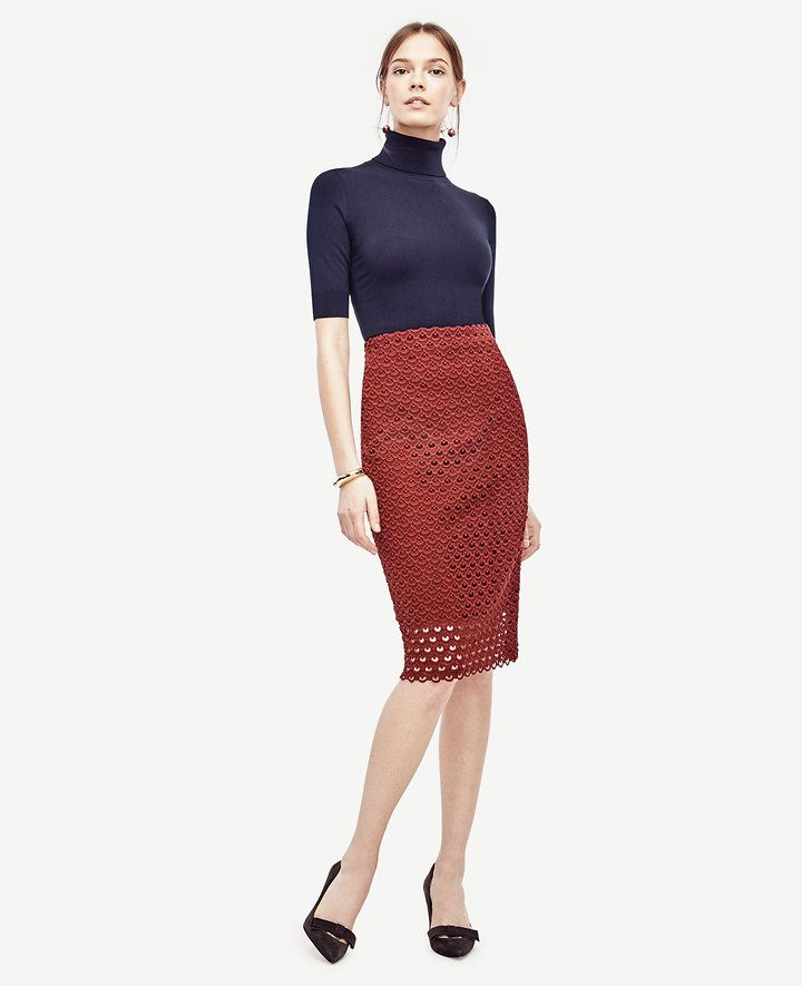 Tulip Lace Pencil Skirt | Ann Taylor