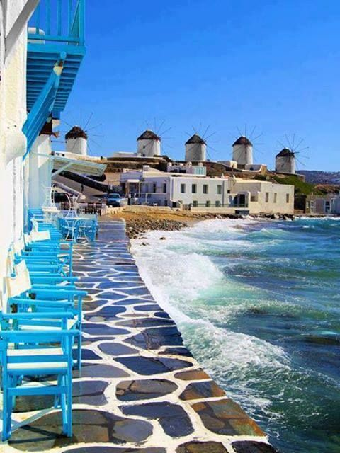 HIP . locations . travel. cafe by the sea . Greek islands