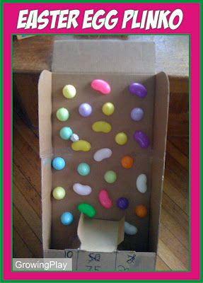 Easter Egg Plinko! (great way to use up some of those eggs!)