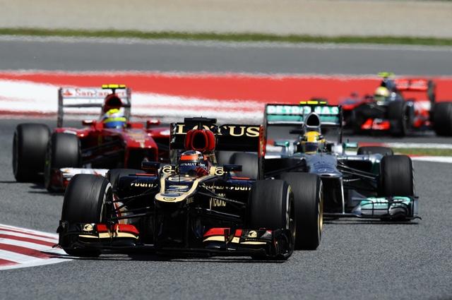 F1 Spanish GP Raikkonen Hamilton Massa Perez