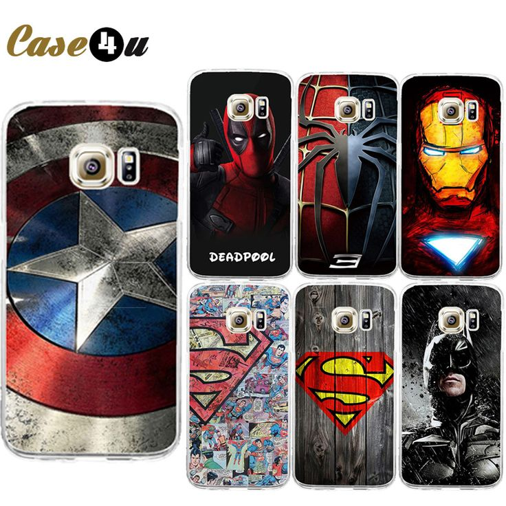 Find More Phone Bags & Cases Information about Cool Superman Captain America Shield Comic Hard Back Dropproof Case For Samsung Galaxy S6 S7 S7 Edge Spiderman Avengers Capinhas,High Quality Phone Bags & Cases from Case4u Group on Aliexpress.com