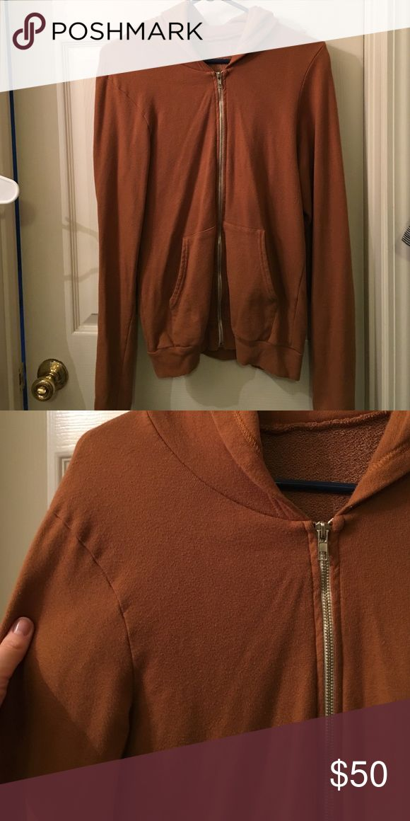 American Apparel Camel Hoodie Perfect condition camel colored hoodie American Apparel Tops Sweatshirts & Hoodies