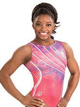 Simone Biles Coral Craze Leotard from GK Gymnastics