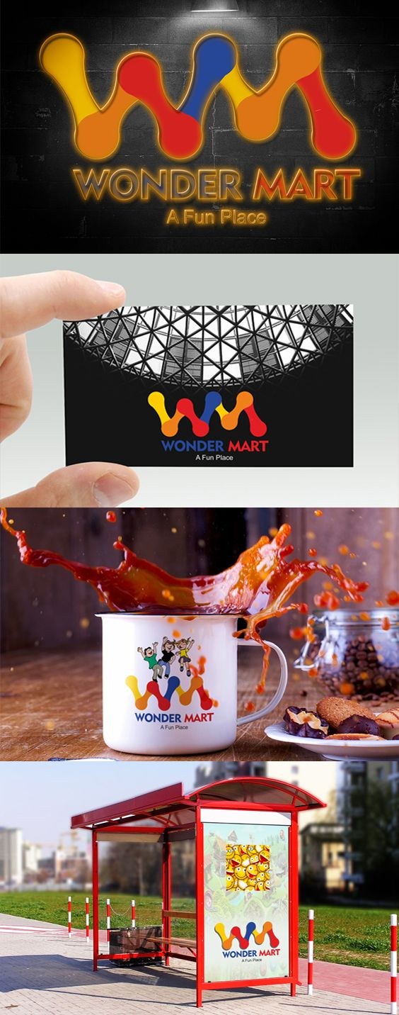 The logo represents the two initials 'W' and 'M' and will be embossed on all the toys they sell.