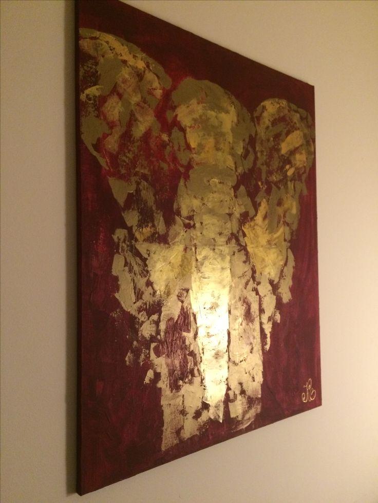 #gold#elephant#canvas#painting#acrylic#acrylicpainting