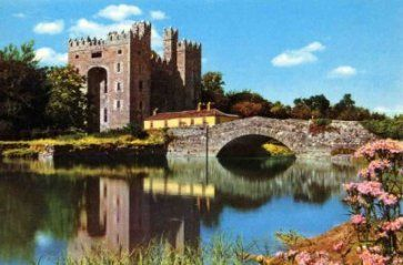 Bunratty Castle is a large tower house in County Clare, Ireland. It lies in the centre of Bunratty villiage, by the N18 road between Limerick and Ennis, near Shannon Town and its airport. It was built in c.1425,