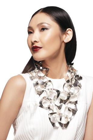JCK Photo Shoot Outtakes With Model Dinara Chetyrova - Pomellato earrings and Horsecka Jewelry necklace