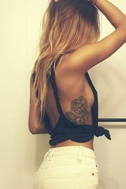 Hamsa tattoo (inspiration for my short story, Unnamed) i love the placement
