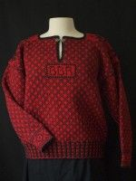 Swedish North Halland Pullover: The lovely red and black Swedish sweater from the Halland region can be dated back to the late 1800′s. In this class, a small sweater will be knitted circularly compiling a variety of Swedish construction techniques.