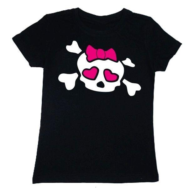 T-shirt damski - zakochana czaszka z FamilyInBlack.pl