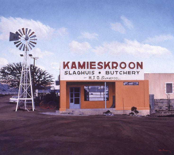 Kamieskroon Butchery, 1981. Artist John Kramer