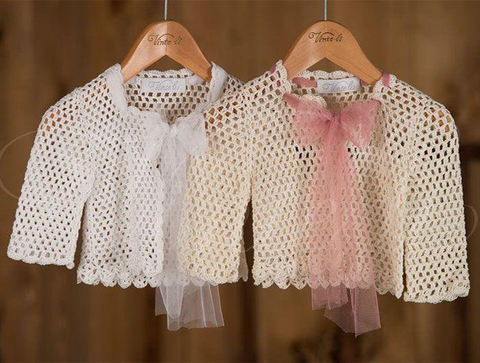 Βαπτιστικά ρούχα, πλεκτό ζακετάκι Vinte li 2343