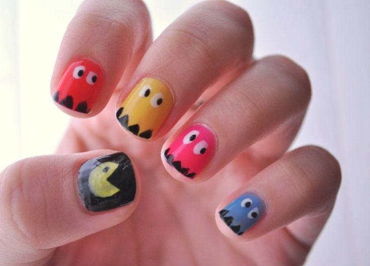 Pac Man nails.: Nailart, Nails Design, Pac Man Nails, Pac Men Nails, Nails Ideas, Nails Art Design, Pacman Nails, Nail Art, Pacmen