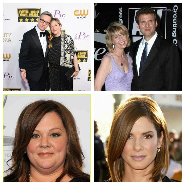 Another fab party; Paul & Laurie Feig, Phil Rosenthal & Monica Horan, Melissa McCarthy, Sandra Bullock. WTF?