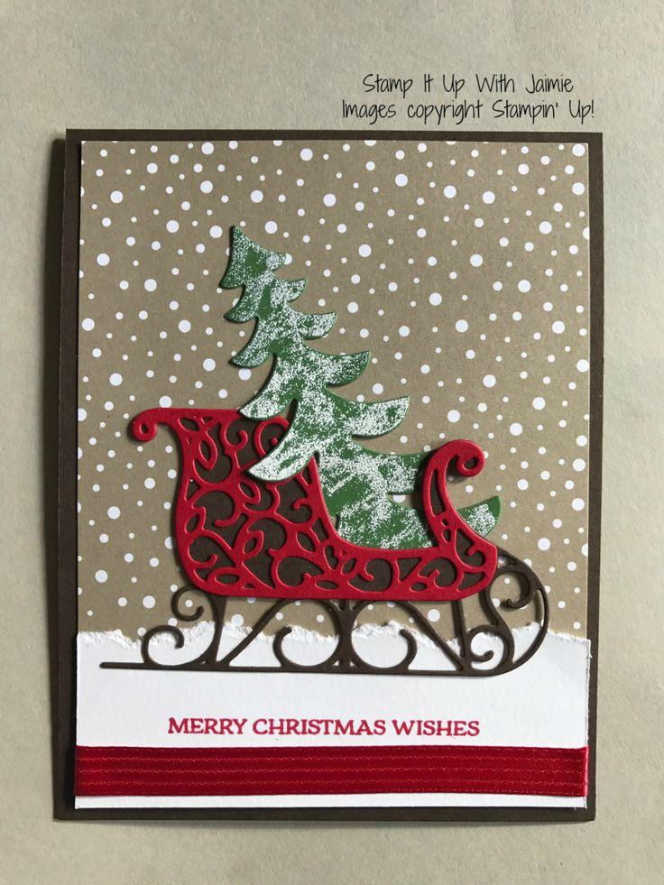 santas sleigh stamp it up with jaimie diy christmas cardschristmas holidayschristmas - Elegant Christmas Cards