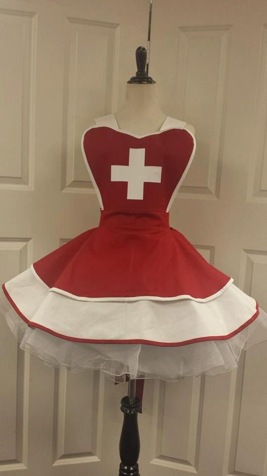 Nurse Fandom Cosplay Retro Pin Up Apron por PandorasProductions