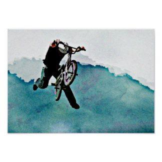 Cascade de bicyclette du style libre BMX Poster