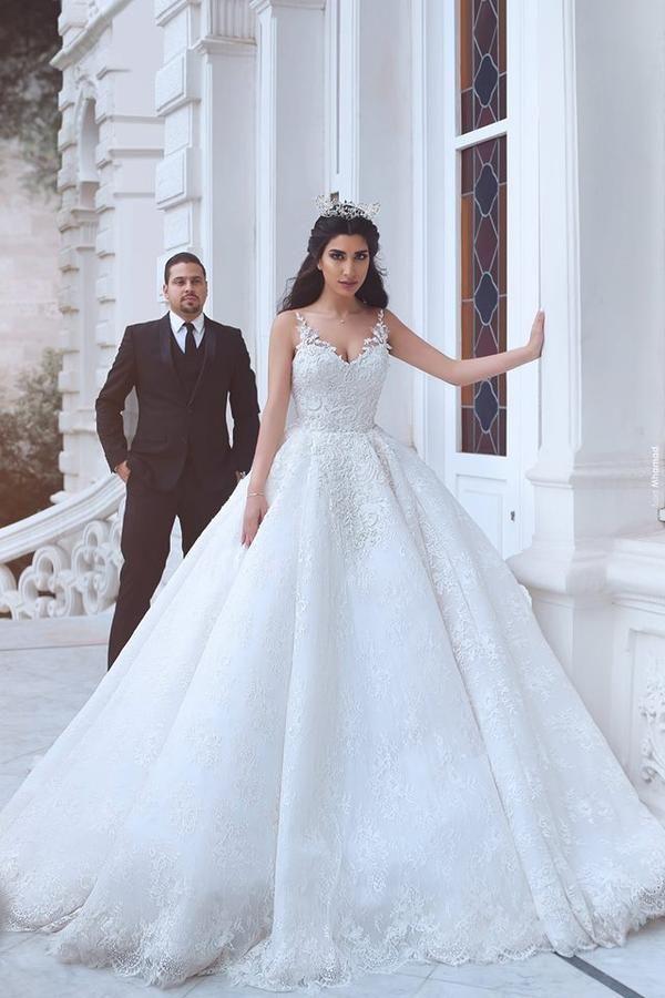 9154818e666 Princess Style Lace Wedding Dress
