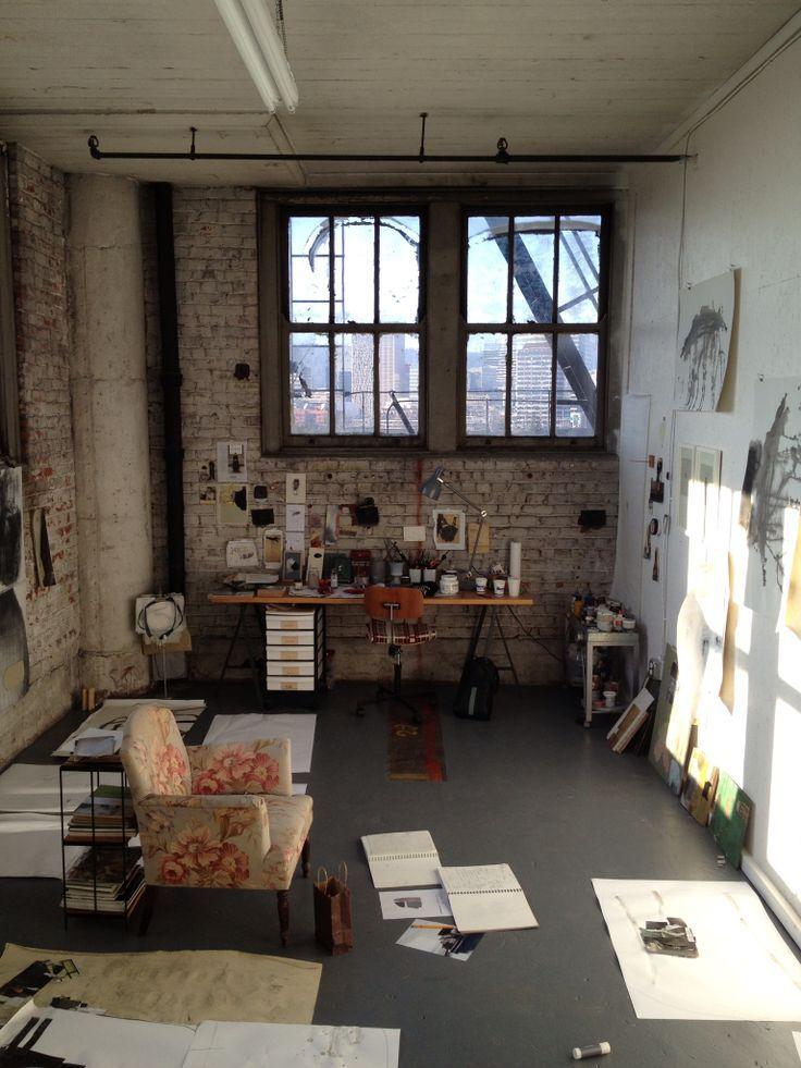 I love this idea for a studio