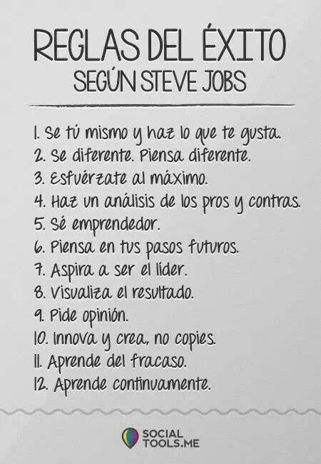 Reglas del Exito,segun Steve Jobs