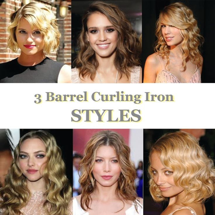 Swell 1000 Ideas About 3 Barrel Curling Iron On Pinterest Flat Iron Short Hairstyles Gunalazisus