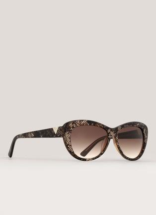 ValentinoLace-print cat-eye sunglasses