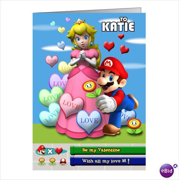 9 best Valentines cards images – Mario Valentines Cards
