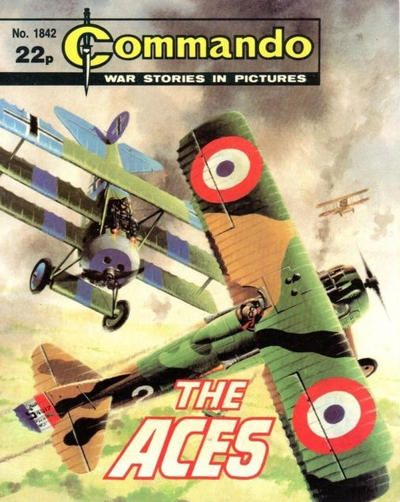 Commando Magazine_ Fokker DR1 and Spad XIII